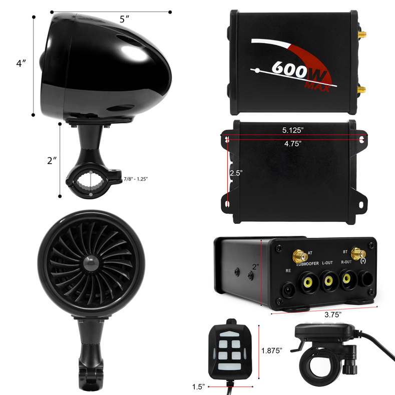 Motorcycle Bluetooth Speaker M600